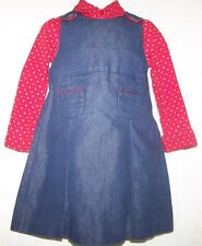 Tommy Hilfiger 2T DARLING jean DRESS 2 pc red very well made L@@K!