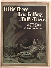 """WWI SHEET MUSIC STORE POSTER """"I'LL BE THERE, LADDIE BOY..."""" LARGE FORMAT"""