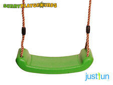 SWING SEAT LIGHT GREEN Plastic SetWith Rope Accessories Playground  Outdoor Kids