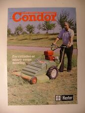Hayter Condor Mower Original Leaflet From late 1970s/early 1980s