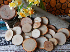 """Mixed.... 25  Piece 2"""" - 3""""  Rustic  Wood Slices for Crafts, Weddings"""