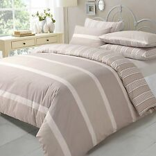 Duvet Cover & Pillow Case Bedding Pollycotton Set NATURAL EVE KING FREE P&P