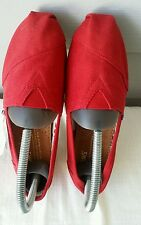 New TOMS Women's Classic Canvas Slip-on, Red  6W