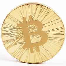 1pcs Plated BTC Gold Physical Bitcoin Commemorative Coin  Art Collection #127