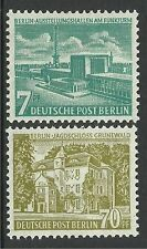 GERMANY-BERLIN. 1954. Views Additional Values. SG: B118/9. Mint Lightly Hinged.
