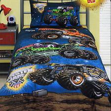 Monster Jam El Toro Loco Grave Digger Mutt Maximum D - Full Bed Quilt Cover Set