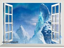Disney Frozen Elsa Snowflake Ice Castle Palace Wall Decals Stickers Kids Decor