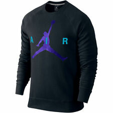 MEN'S SIZE XL NIKE JORDAN BRUSHED FLEECE JUMPMAN BLACK SWEATSHIRT PULLOVER