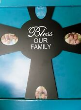 Black Cross BLESS OUR FAMILY Frame 15.5 x 19 Home Decor Wall Art Collage New!