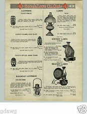 1925 PAPER AD Paull's Regal Lanterns Adlake Kero Railroad Lanterns Lamps Climax