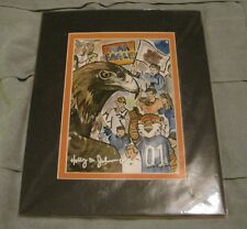 """Holly B. Johnson """"War Eagle"""" Signed & Matted LE 6/500 Art Print 8x10"""""""