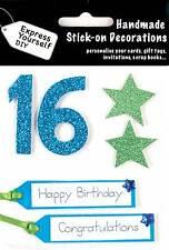 Blue 16 anniversaire DIY Carte de vœux Toppers personnaliser les cartes artisanales vous-même