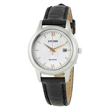 Citizen Ladies Straps Eco-Drive Silver Dial Ladies Watch FE1086-04A