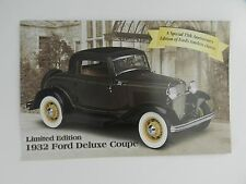 Danbury Mint 1932 FORD DELUXE COUPE Brochure Pamphlet Mailer