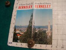vintage HIGH GRADE travel brochure: BERKELEY 1957 V SCARCE