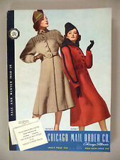Chicago Mail Order CATALOG - Fall/Winter, 1938-39 - clothes, fashion - nice cond