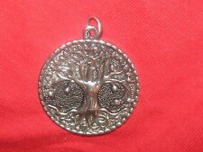 LOT OF 2 SILVER  LARGE CELTIC IRISH IRELAND TREE OF LIFE  PENDANT NECKLACES