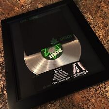 Dr Dre The Chronic 2001 Platinum Record Disc Album Music Award MTV Grammy RIAA