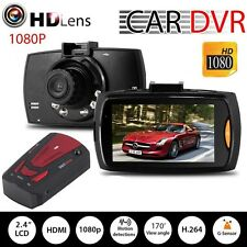 HD 1080P Car DVR Camera Video Recorder Dash Cam + GPS Radar Dectector V7 Red TR