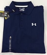 Under Armour MEN'S Athletic Golf Polo Loose Heat Gear Navy Blue Size M