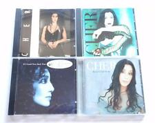 Lot of 4 CHER CD'S CD BELIEVE IT'S A MANS WORLD  TURN BACK TIME HEART OF STONE