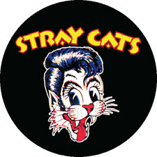 CHAPA/BADGE STRAY CATS . pin button brian setzer rockabilly rockcats slim jim