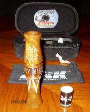ZINK CALLS MONEY MAKER ACRYLIC GOOSE CALL+CASE+BAND+DVD+REEDS CARMEL SWIRL NEW!