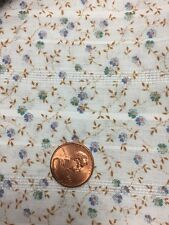 """Light Blue Floral Cotton Poly Fabric 3 Yards By 45"""" Girl Doll Baby Dresses"""