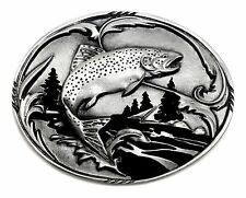 Hebilla de cinturón de Pesca Trucha Pez de diseño auténtico Siskiyou Buckle Co del producto