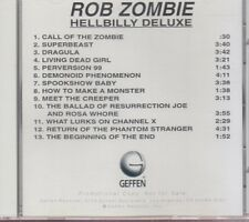 rob zombie hillbilly deluxe cd promo white zombie