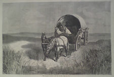 WHISKY PEDDLER ON THE PLAIN IN COVERED WAGON HARPER'S WEEKLY 1870