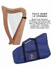 12 Strings Celtic Harp Ashwood High Quality Musical Instrument **NEW**