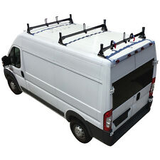 Black Steel H1 3 Bar Ladder & Cargo Van Rack System for RAM ProMaster