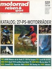 MRS9109    Test SUZUKI DR 650 RSE    motor reisen & sport 9/1991