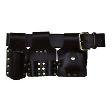 Deluxe Scaffold Tool Belt Set - Brown Leather - Connel Of Sheffield