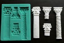Silicone Mould COLUMNS 3 Sugarcraft Cake Decorating Fondant / Fimo mold