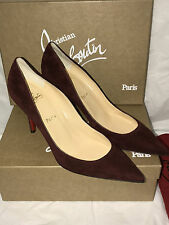 NIB Authentic Christian Louboutin Apostrophy 85  Suede Heels Shoes 40  9.5  $675