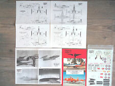 "CT-133 SILVER STAR ""2RCAF/KIWI/RED KNIGHT"" LEADING EDGE DECALS 1/48"