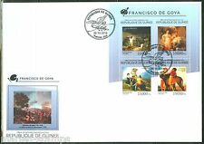 GUINEA 2014 FRANCISCO DE GOYA  PAINTINGS SHEET FIRST DAY COVER