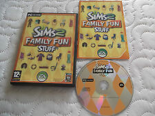 THE SIMS 2 FAMILY FUN STUFF ADD-ON PACK PC CD-ROM V.G.C. FAST POST COMPLETE