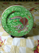 Hand Painted Dragon Plate (Green)