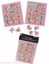 Willy Jigsaw Game with 2 Puzzles Cheeky Adult Fun Hen Night Party Bride Birthday