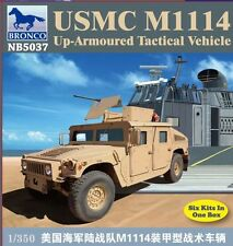 Bronco Model kit 1/350 USMC M1114 Up-Armoured Tactical Vehicle (6 kits in one)
