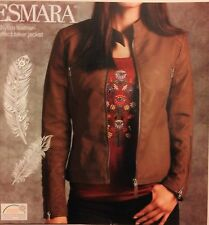 ESMARA BROWN ladies leather-effect biker jacket germany brand , quality size14