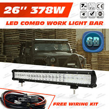 "6D CREE 378W 26""inch LED Combo Work Light Bar Offroad Driving Lamp 4WD Truck ATV"