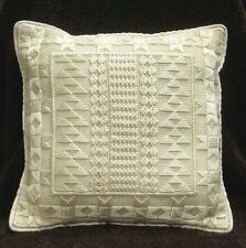 Heirloom Sampler Pattern Needlepoint Pillow Bargello Wedding Ring Bearer Pillow