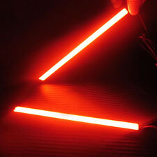 2pcs Daylight Running COB LED Light Red Bright Car DRL Lamp Waterproof DC 12V