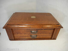 Antique Tiger Oak Collectors Chest of Drawers ref 2863