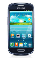 Samsung Galaxy S3 III Mini GT- I8200N Pebble Blue SimFree Unlocked Mobile Phone
