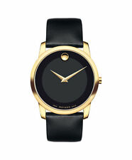 Movado Museum 0606876 Quartz Black Dial Leather Band Mens Watch